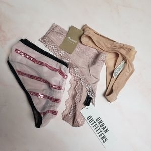 Madewell, UO, VS BUNDLE of 3 Panties Nude/Pink XS